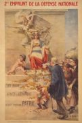 Vintage WW1 French poster - 2nd National Defense Loan